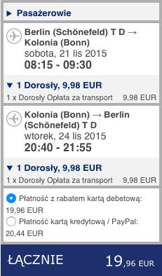 2015-11-17 Berlin Kolonia Skopie Macedonia 168 zl RT Ryanair Wizz Air 3