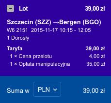 2015-11-17 Szczecin Bergen Ryga Berlin Ryanair Wizz Air 205 zl 1