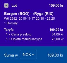 2015-11-17 Szczecin Bergen Ryga Berlin Ryanair Wizz Air 205 zl 2