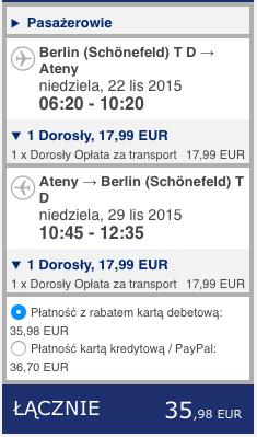 2015-11-22 Berlin Ateny Pafos Cypr Grecja Ryanair 280 zl RT 1