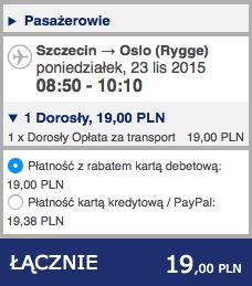 2015-11-23 Szczecin Wilno Poznan Ryanair Wizz Air 155 zl 1