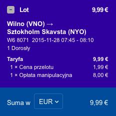 2015-11-23 Szczecin Wilno Poznan Ryanair Wizz Air 155 zl 3