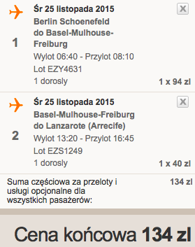 2015-11-25 Berlin Lanzarote easyJet Ryanair 292 zl RT 4