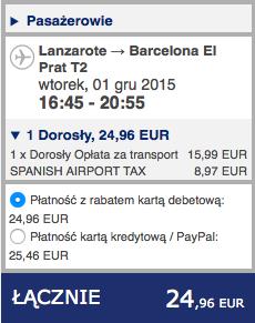 2015-11-25 Berlin Lanzarote easyJet Ryanair 292 zl RT 5