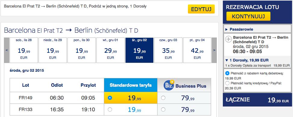 2015-11-25 Berlin Lanzarote easyJet Ryanair 292 zl RT 6