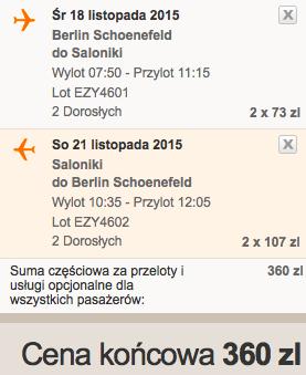 2015-11-25 Berlin Saloniki Grecja easyJet 3 dni