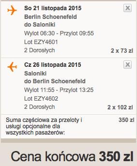 2015-11-25 Berlin Saloniki Grecja easyJet 5 dni