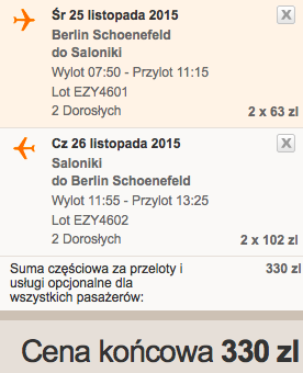 2015-11-25 Berlin Saloniki Grecja easyJet doba