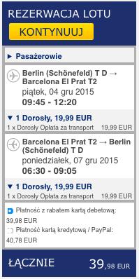 2015-12-04 Berlin Barcelona 170 zl RT Ryanair 2