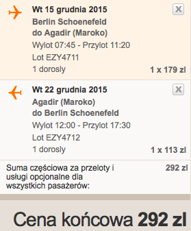 2015-12-15 Berlin Agadir Maroko 260 zl RT easyjet 2
