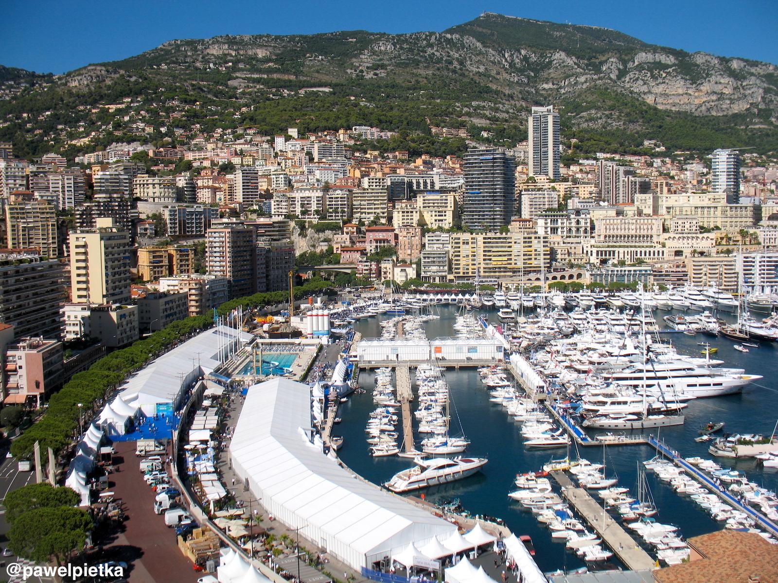 17 Monako widok miasto marina panorama tor f1