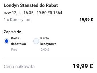 2015-11-12 Szczecin Rabat Fez Maroko za 236 zl RT Ryanair Tanie Loty 2