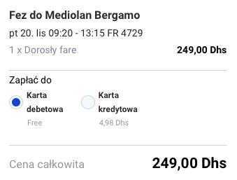 2015-11-12 Szczecin Rabat Fez Maroko za 236 zl RT Ryanair Tanie Loty 3