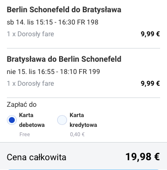 2015-11-20 Berlin Bratyslawa na weekend 86 zl RT ryanair 2