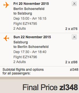 2015-11-20 Berlin Salzburg Austria za 174 zl easyJet 1