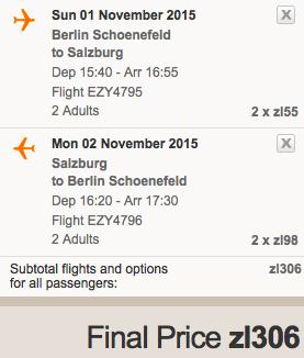 2015-11-20 Berlin Salzburg Austria za 174 zl easyJet 2