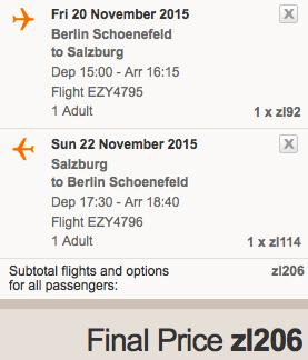 2015-11-20 Berlin Salzburg Austria za 174 zl easyJet 3