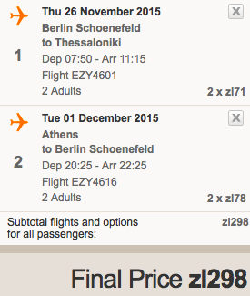 2015-11-26 Berlin Saloniki Chania Ateny 343 zl RT easyjet ryanair 1