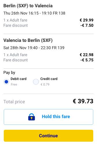 2015-11-26 Berlin Walencja Hiszpania 169 zl RT Ryanair 1