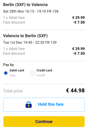 2015-11-26 Berlin Walencja Hiszpania 169 zl RT Ryanair 2