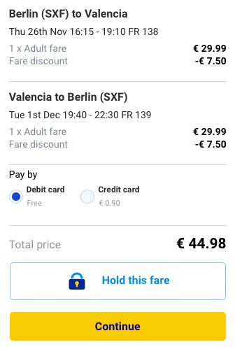 2015-11-26 Berlin Walencja Hiszpania 169 zl RT Ryanair 3