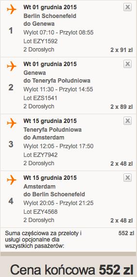 2015-12-01 Berlin Teneryfa Poludniowa 276 zl RT Wyspy Kanaryjskie
