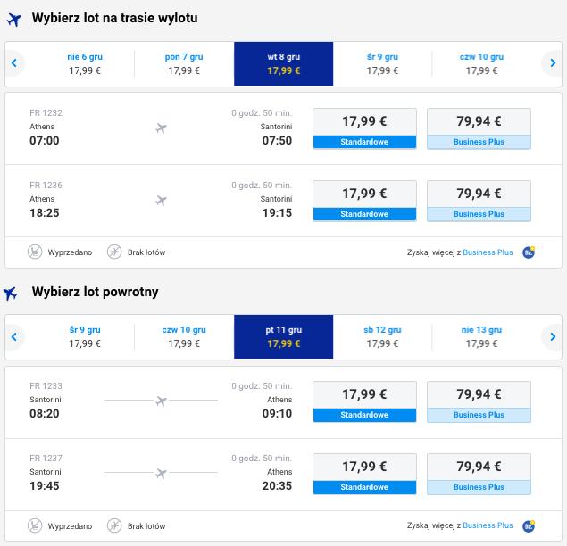 2015-12-08 Berlin Ateny Santorini Grecja za 272 zl RT Ryanair 2