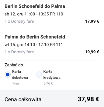 2015-12-10 Berlin Palma de Mallorca Majorka Hiszpania za 162 zl RT Ryanair 1