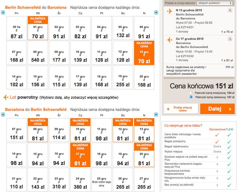 2015-12-13 Berlin Barcelona 119 zł RT easyJet grudzien 2