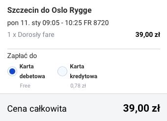 2016-01-11 Szczecin Oslo Tallinn Ryga za 185 zl RT Ryanair Simple Express 2