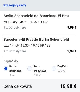 2016-01-12 Berlin Walencja Barcelona 86 zl RT Ryanair 2
