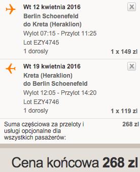 2016-04-12 Berlin Heraklion Kreta Grecja easyJet 236 zl RT 2