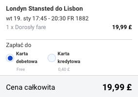 2016.01-19 Szczecin Lizbona 273 zl RT ryanair 2