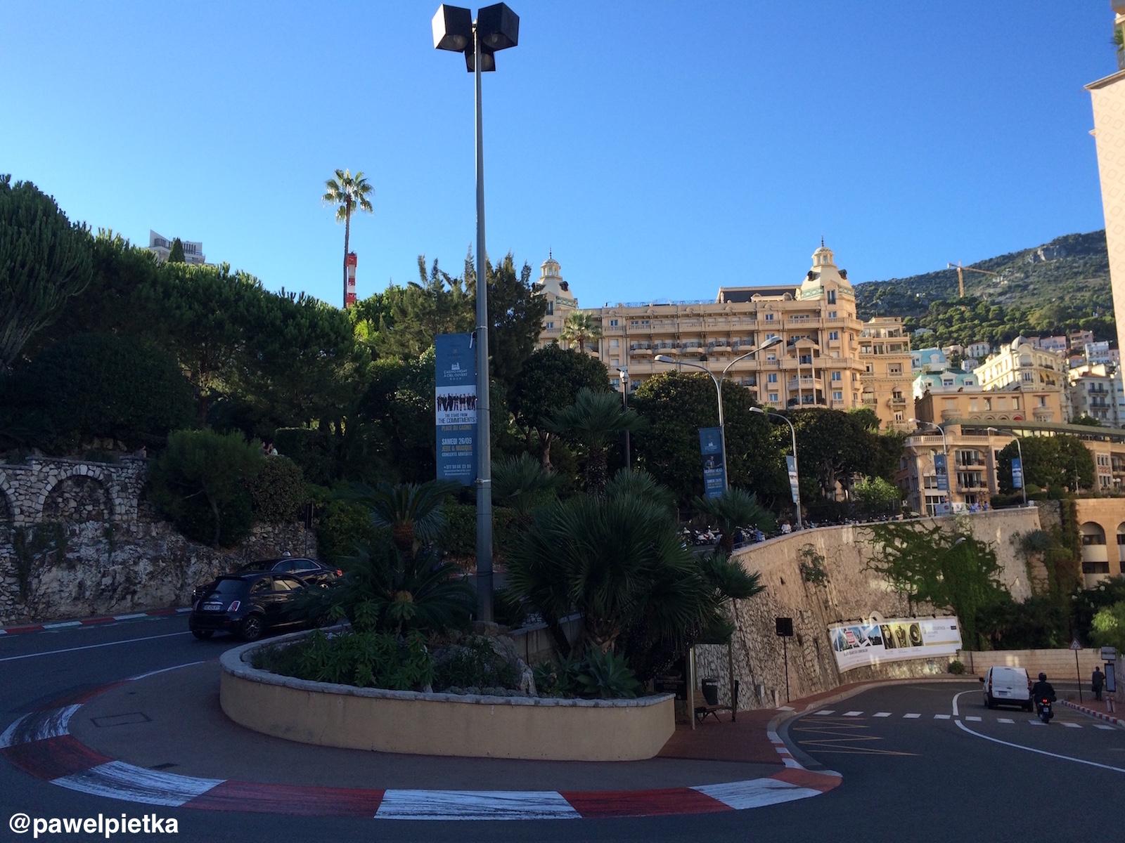 25 Monako F1 zakret Fairmont Hairpin