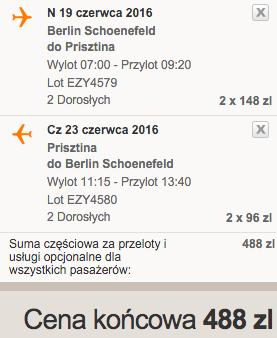 2016-04-03 Berlin Kosowo Prisztina 227 zl RT easyJet 3a