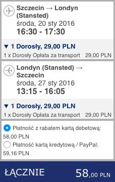 2016-01-20 Szczecin Londyn Barcelona 230 zl RT Ryanair 1
