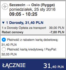 2016-01-25 Szczecin Wilno Poznan 148 zl Ryanair Wizzair 1
