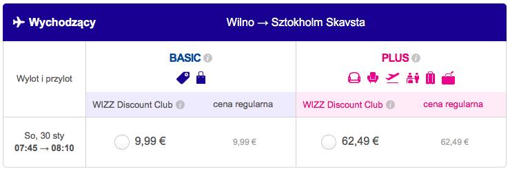 2016-01-25 Szczecin Wilno Poznan 148 zl Ryanair Wizzair 3
