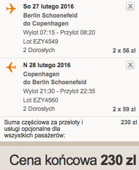 2016-02-27 BErlin Schonefeld Kopenhaga Dania 115 zl RT easyjet 1