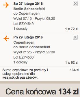 2016-02-27 BErlin Schonefeld Kopenhaga Dania 115 zl RT easyjet 2