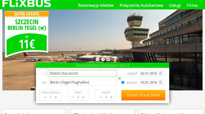 Zmiany na trasie Szczecin – Berlin Tegel (Flixbus, Interglobus)