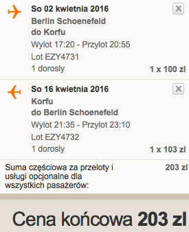 Zrzut ekranu 2016-04-02 Berlin Korfu Grecja 171 zl RT easyJet 2