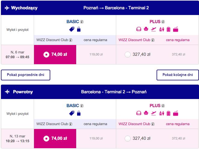 2016-03-06 Poznan Barcelona 148 zl RT Wizz Air