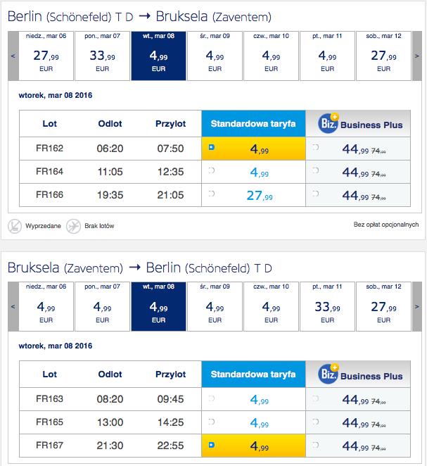 2016-03-08 Dzien Kobiet Bruksela Berlin 44 zl RT Ryanair