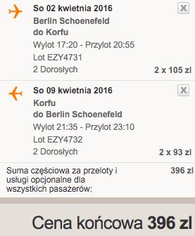 2016-04-02 Korfu z Berlina za 198 zl RT easyJet