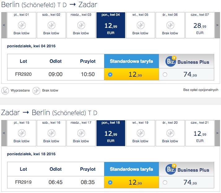 2016-04-04 Berlin Zadar 110 zl RT Ryanair