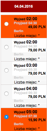 2016-04-04 Szczecin Zadar loty Ryanair Interglobus PKS 124 zl RT 1