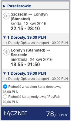 2016-04-13 Szczecin Ibiza Hiszpania loty Ryanair 248 zl RT 1
