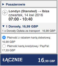 2016-04-13 Szczecin Ibiza Hiszpania loty Ryanair 248 zl RT 2a