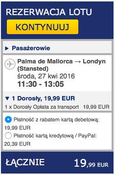 2016-04-18 Szczecin Palma de Mallorca Majorka 278 zl RT Ryanair 3